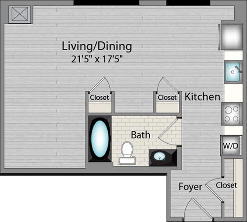 Apartment 225 floorplan